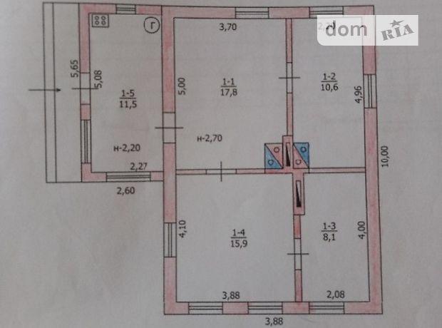 одноэтажный дом с камином, 63 кв. м, кирпич. Продажа в Кочерыжках (Днепропетровская обл.) фото 1