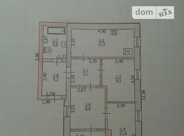 Продажа дома, 63.1м², Днепропетровская, Павлоград, Петра Сагайдачного Ульянова, дом 16