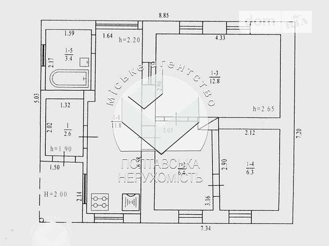 Продажа дома, 50м², Полтава, р‑н.Рыбцы