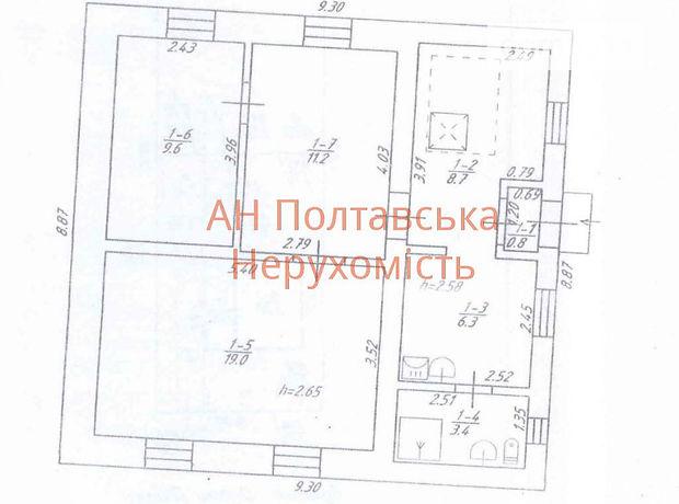 Продажа дома, 59м², Полтава, c.Щербани