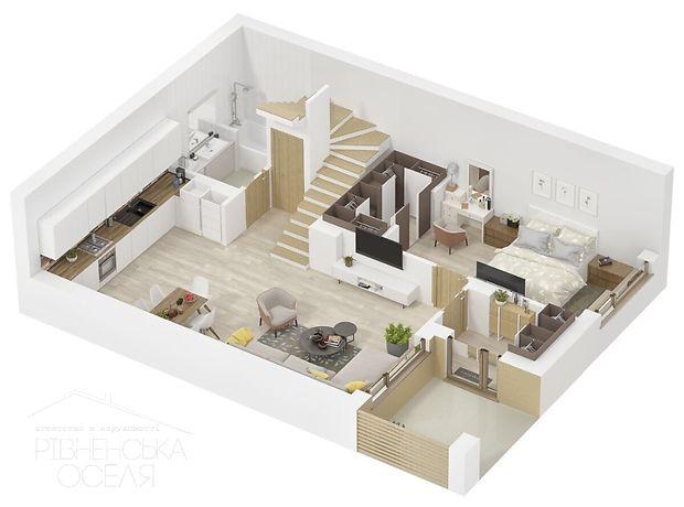 одноэтажный дом с садом, 116 кв. м, кирпич. Продажа в Ровно район Счастливое фото 1