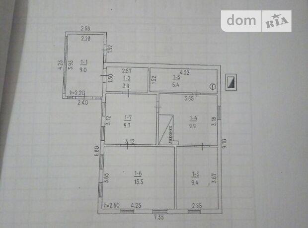 одноэтажный дом с садом, 67 кв. м, кирпич. Продажа в Ротмистровке (Черкасская обл.) фото 1