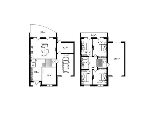 двухэтажный дом, 238 кв. м, кирпич. Продажа в Минае (Закарпатская обл.) фото 1