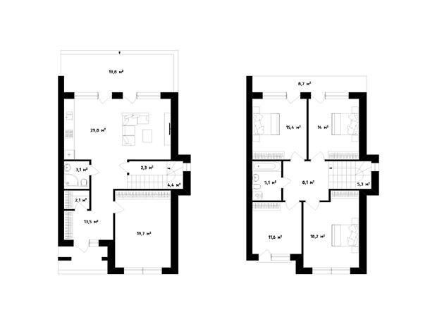 двухэтажный дом, 157 кв. м, монолитно-каркасный. Продажа в Сторожнице (Закарпатская обл.) фото 1