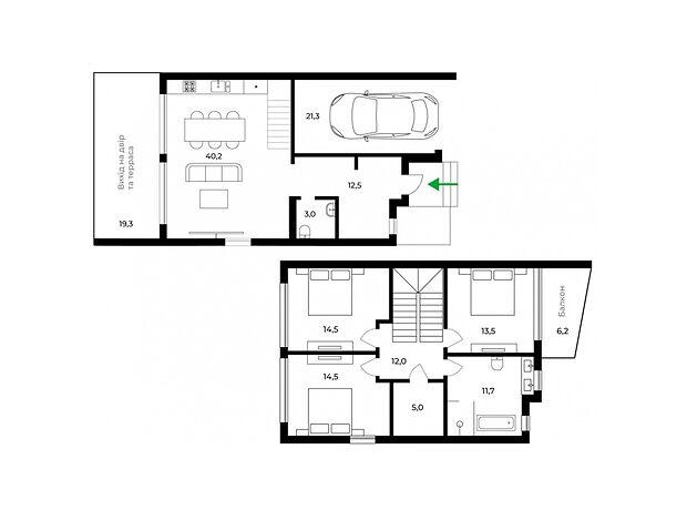 двухэтажный дом, 147 кв. м, монолитно-каркасный. Продажа в Ужгороде район Центр фото 1