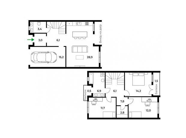 двухэтажный дом, 122 кв. м, монолитно-каркасный. Продажа в Ужгороде район Центр фото 1
