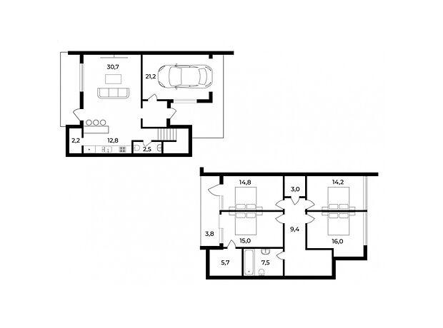 двухэтажный дом, 163 кв. м, монолитно-каркасный. Продажа в Ужгороде район Центр фото 1
