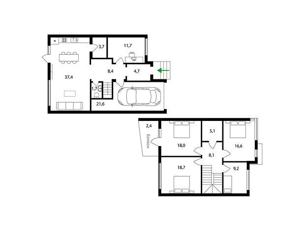 двухэтажный дом, 158 кв. м, монолитно-каркасный. Продажа в Ужгороде район Центр фото 1