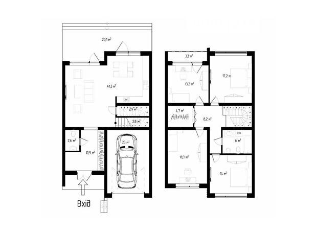 двухэтажный дом, 167 кв. м, кирпич. Продажа в Ужгороде фото 1