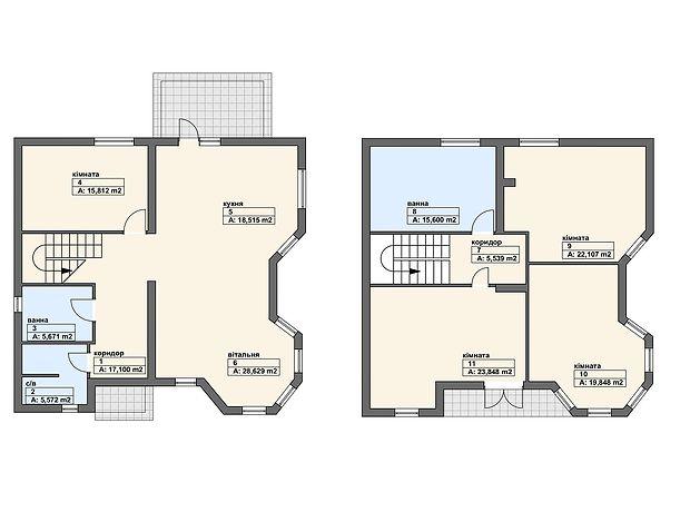 двухэтажный дом, 208.4 кв. м, пеноблок. Продажа в Виноградове район Виноградов фото 1