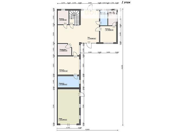 двухэтажный дом, 114.22 кв. м, пеноблок. Продажа в Виноградове район Виноградов фото 1