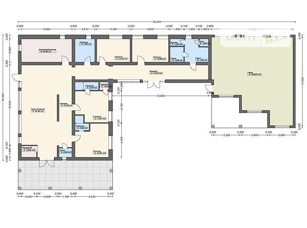 двухэтажный дом, 400 кв. м, пеноблок. Продажа в Виноградове район Виноградов фото 1