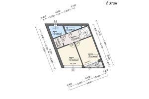 двухэтажный дом, 88 кв. м, пеноблок. Продажа в Виноградове район Виноградов фото 2
