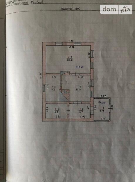одноэтажный дом с мебелью, 62 кв. м, кирпич. Продажа в Володарске-Волынском фото 1