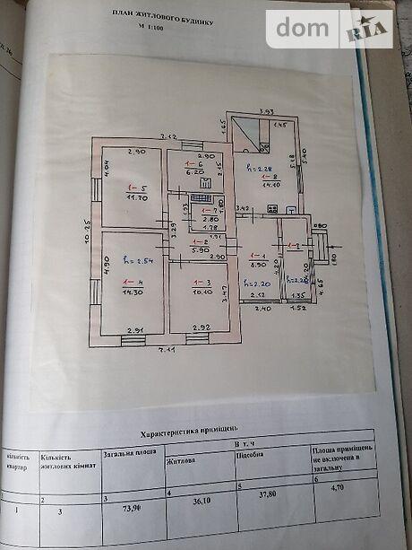 одноэтажный дом с садом, 73 кв. м, кирпич. Продажа в Аркадьевке (Киевская обл.) фото 1