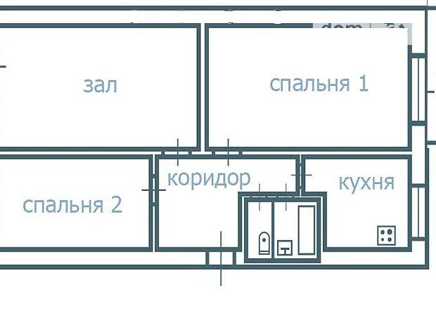 Продаж трикімнатної квартири в Чечельнику на Жовтнева 37, район Чечельник фото 1
