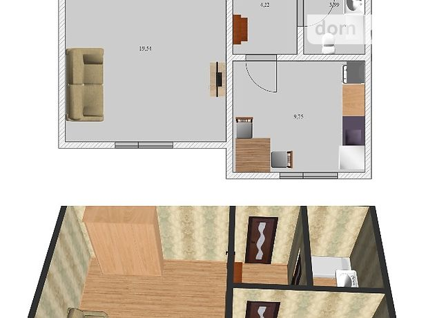 Продаж квартири, 1 кім., Черкаси, р‑н.700-річчя, Чехова вулиця