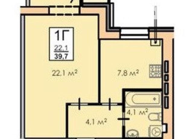Продажа однокомнатной квартиры в Черкассах, на ул. Смелянская район Железнодорожний вокзал фото 1