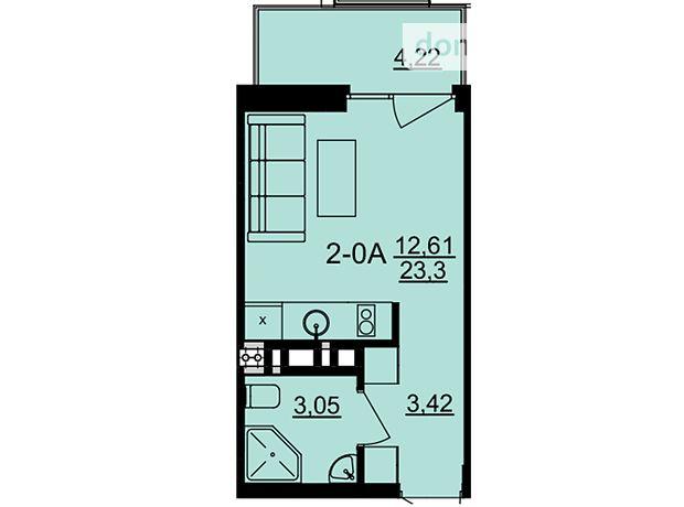Продажа однокомнатной квартиры в Черкассах, на ул. Казацкая район Мытница фото 1