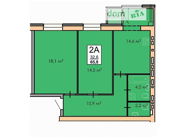 Продажа двухкомнатной квартиры в Черкассах, на ул. Смелянская район Самолет фото 1