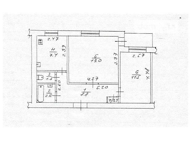 Продажа квартиры, 2 ком., Черкассы, р‑н.ЮЗР, Конева улица, дом 3