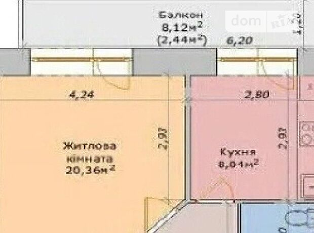 Продажа однокомнатной квартиры в Черкассах, на ул. Королева Академика 20/1, район ЮЗР фото 2