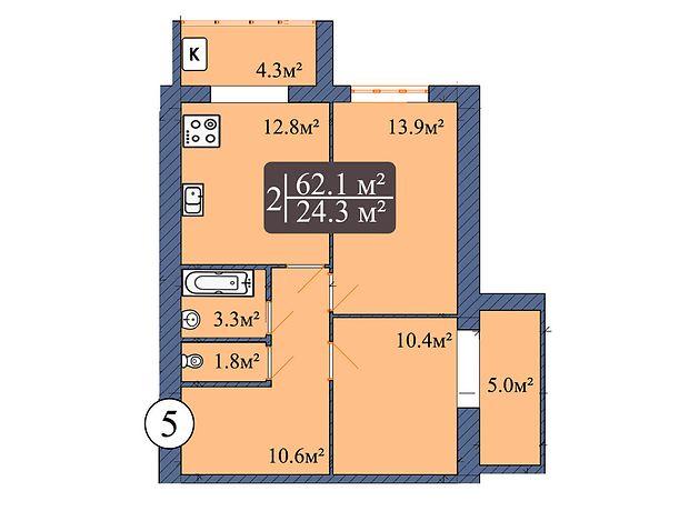 Продажа двухкомнатной квартиры в Чернигове, на просп. Мира район Деснянский фото 1