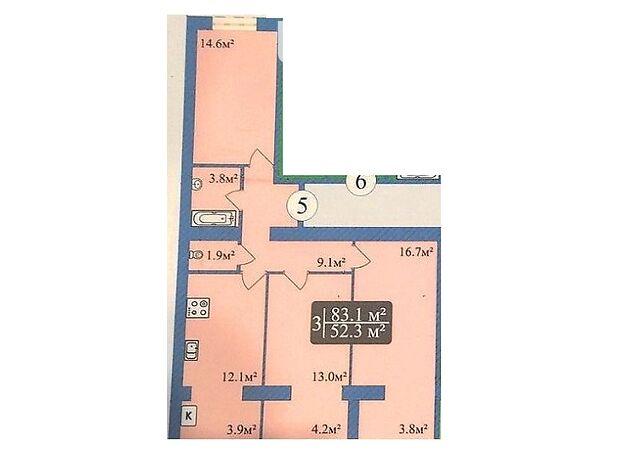 Продажа трехкомнатной квартиры в Чернигове, на просп. Мира район Деснянский фото 1