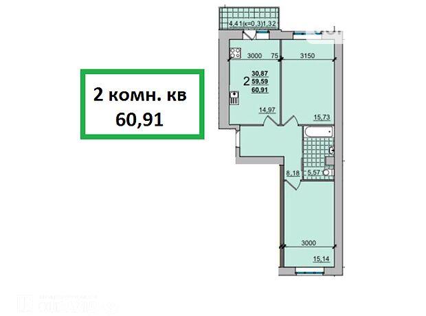 Продажа двухкомнатной квартиры в Чернигове, на ул.Независимости 10, район Масаны фото 1