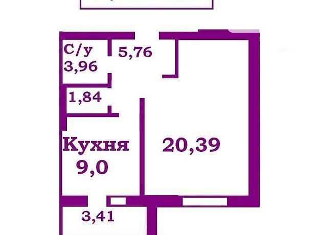 Продажа однокомнатной квартиры в Чернигове, на просп. Мира 277,, кв. 30, район Центр фото 1