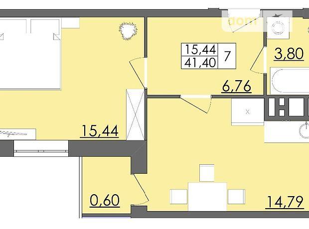 Продажа однокомнатной квартиры в Черновцах на пер. Смотрицкий 4, район Кемпинг, фото 1