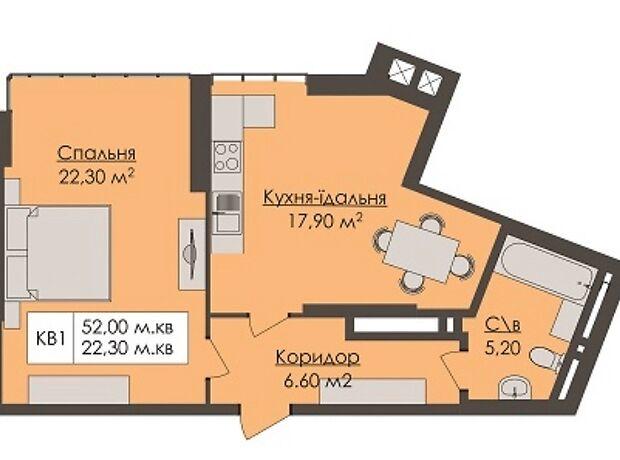 Продажа однокомнатной квартиры в Черновцах, на ул. Чкалова Валерия 13, кв. 1, район Центр фото 1