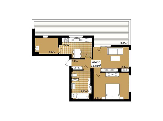 Продаж двокімнатної квартири в Чернівцях на вул. Пумнула Арона район Центр фото 1