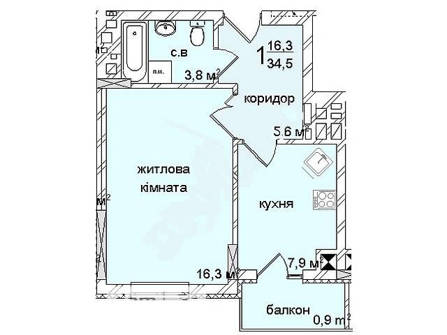 Продажа квартиры, 1 ком., Черновцы, р‑н.Фастовская, Русская