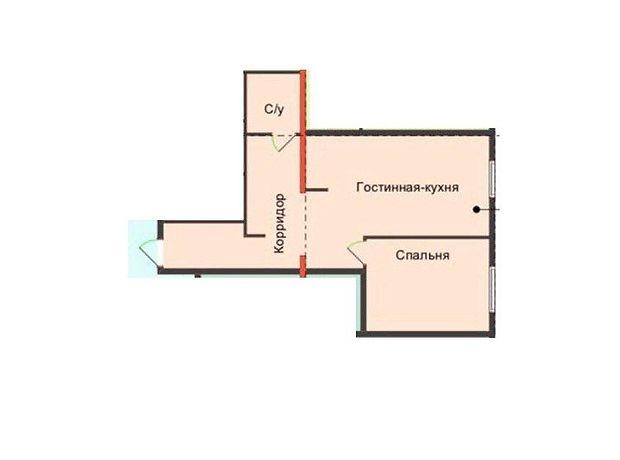 Продаж однокімнатної квартири в Дніпропетровську на вул. Пушкіна Генерала район Гагаріна фото 2