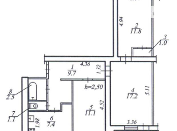 Продажа квартиры, 3 ком., Днепропетровск, р‑н.Гагарина, Запорожское шоссе, дом 2