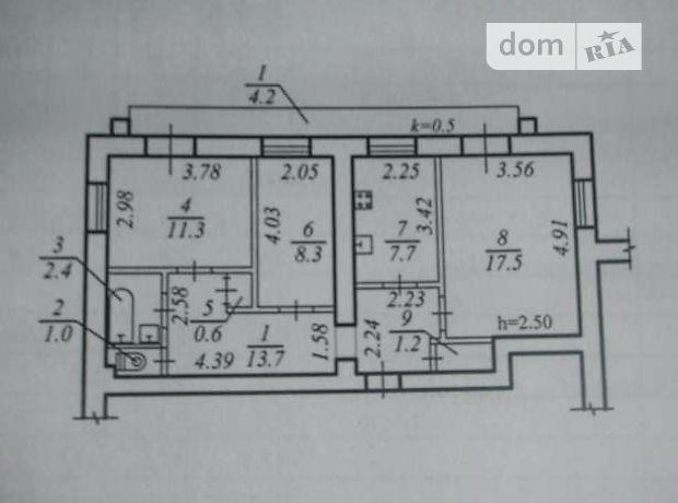 Продажа квартиры, 3 ком., Днепропетровск, р‑н.Жовтневый, Гагарина проспект, дом 108
