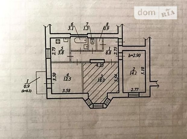Продаж трикімнатної квартири в Дніпропетровську на вул. Робоча 91б, район Робоча фото 1