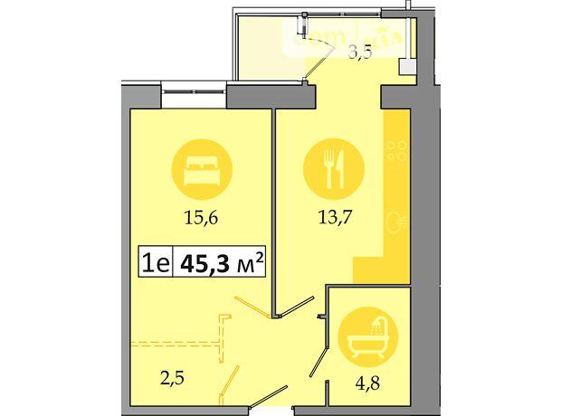 Продажа однокомнатной квартиры в Днепропетровске, на просп. Слобожанский район Слобожанское фото 1