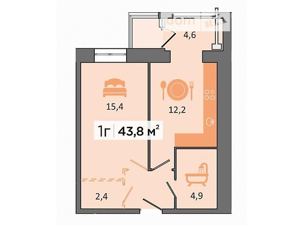 Продаж однокімнатної квартири в Дніпропетровську на вул. Дубініна В. район Соборний фото 1