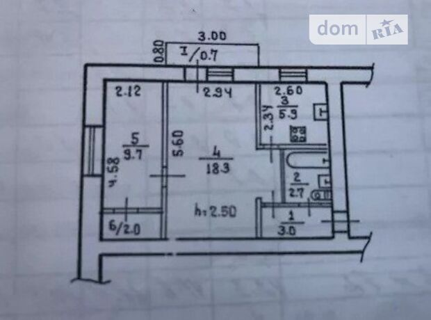 Продаж двокімнатної квартири в Дніпропетровську на пр. Богдана Хмельницкого 32, район Верх Кірова фото 1