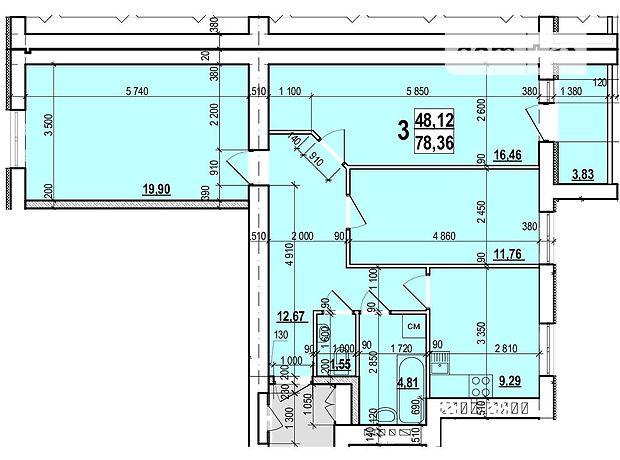 Продажа трехкомнатной квартиры в Харькове, на бул. Мира 25, район ХТЗ фото 1