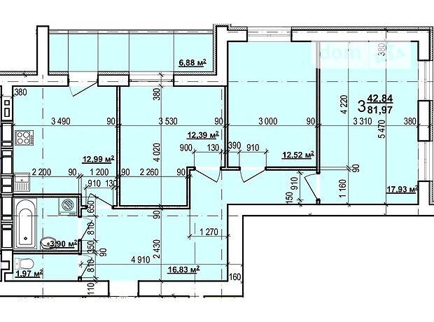 Продаж трикімнатної квартири в Харкові на бул. Миру 27, район ХТЗ фото 1