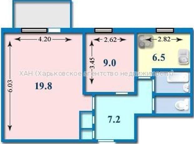Продажа двухкомнатной квартиры в Харькове, на просп. Гагарина 94А, район Левада фото 1