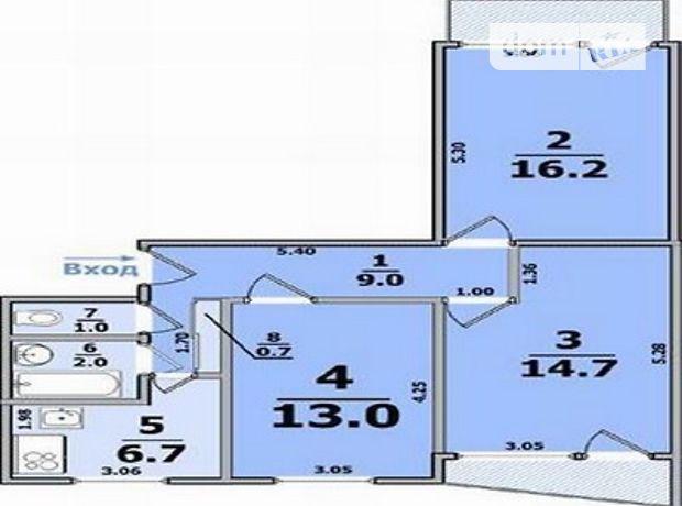 Продажа трехкомнатной квартиры в Харькове, на ул. Гвардейцев-Широнинцев район Салтовка фото 1