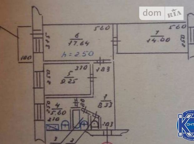 Продажа квартиры, 3 ком., Херсон, р‑н.ХБК, Черноморская улица