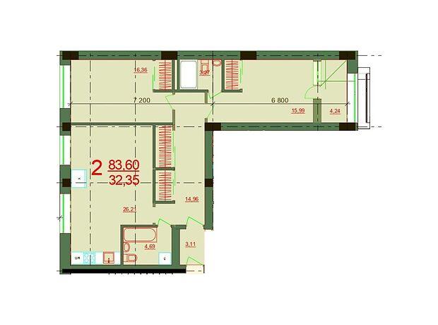 Продаж двокімнатної квартири в Херсоні на вул. Робоча район Житмістечко фото 1