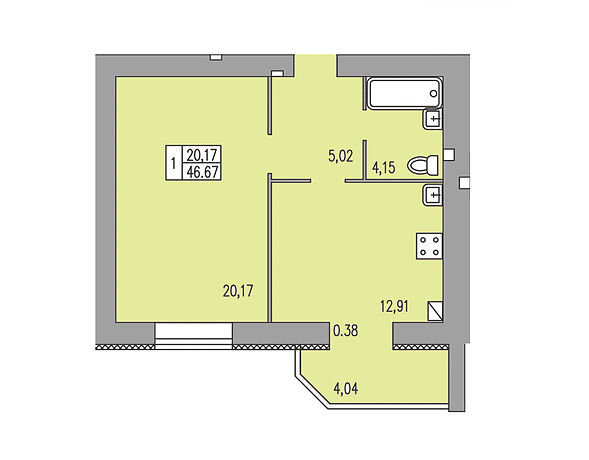 Продажа однокомнатной квартиры в Хмельницком, на ул. Трудовая 5/2-Б район Автовокзал №1 фото 1