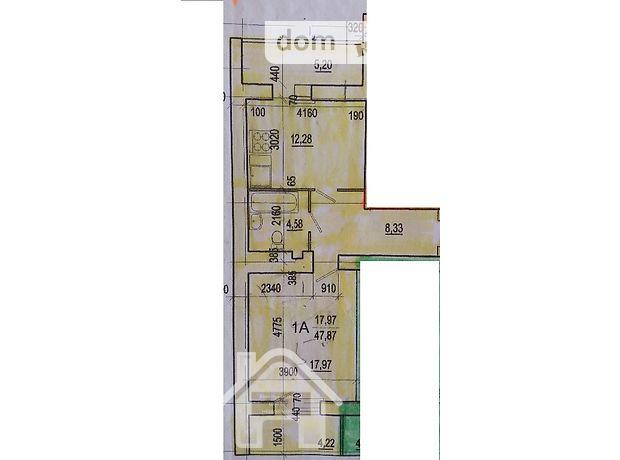 Продажа квартиры, 1 ком., Хмельницкий, р‑н.Дубово, Куприна улица