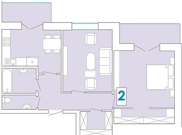 Продажа двухкомнатной квартиры в Хмельницком, на ул. Зализняка Максима район Озёрный фото 1